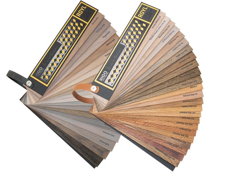 Houten vloer olie kleurenwaaiers - Avalon Parket